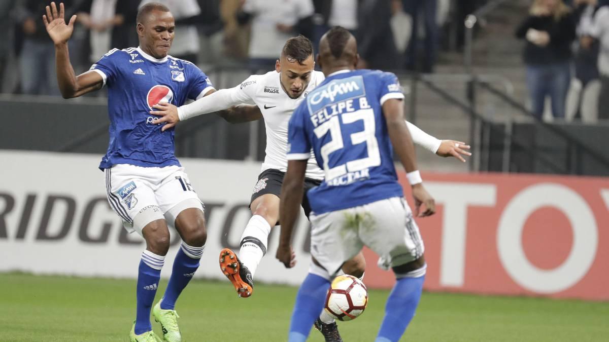 Millonarios venció 1-0 a Corinthians en Brasil con gol de César Carrillo