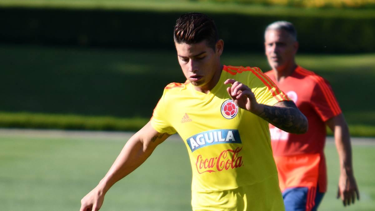 James Rodríguez y Wilmar Barrios no entrenaron con la Selección Colombia por una fatiga muscular