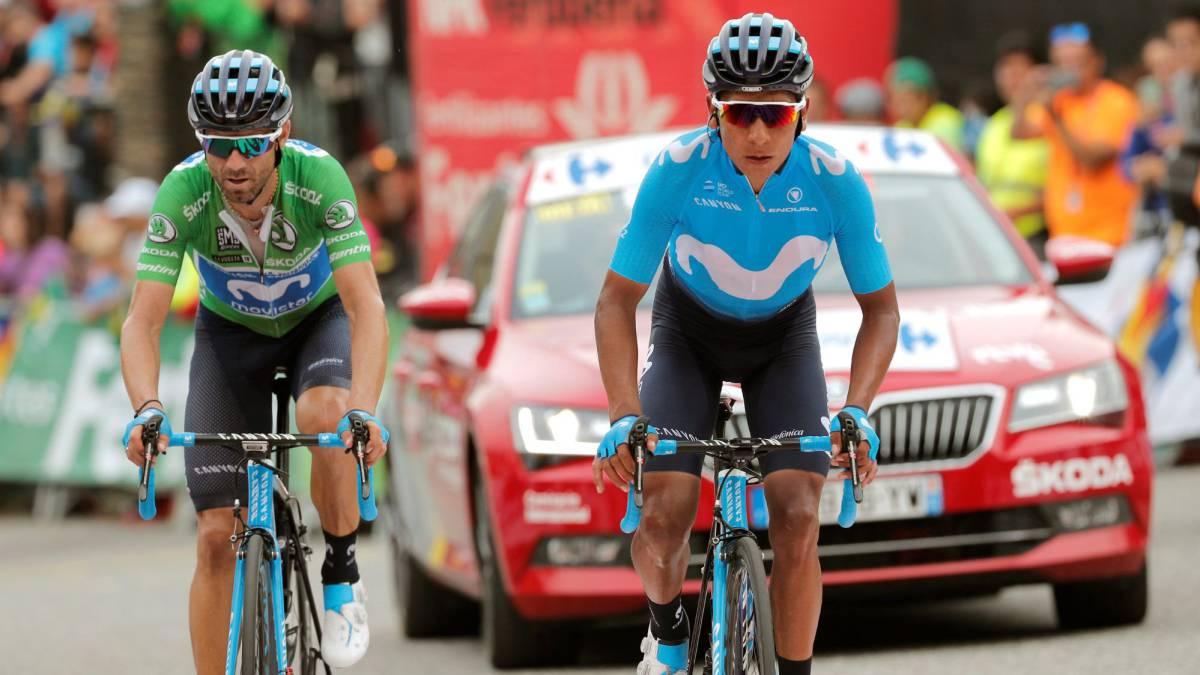 Nairo Quintana habló después de la penúltima etapa de la Vuelta a España de su octavo lugar y del trabajo del Movistar con Alejandro Valverde