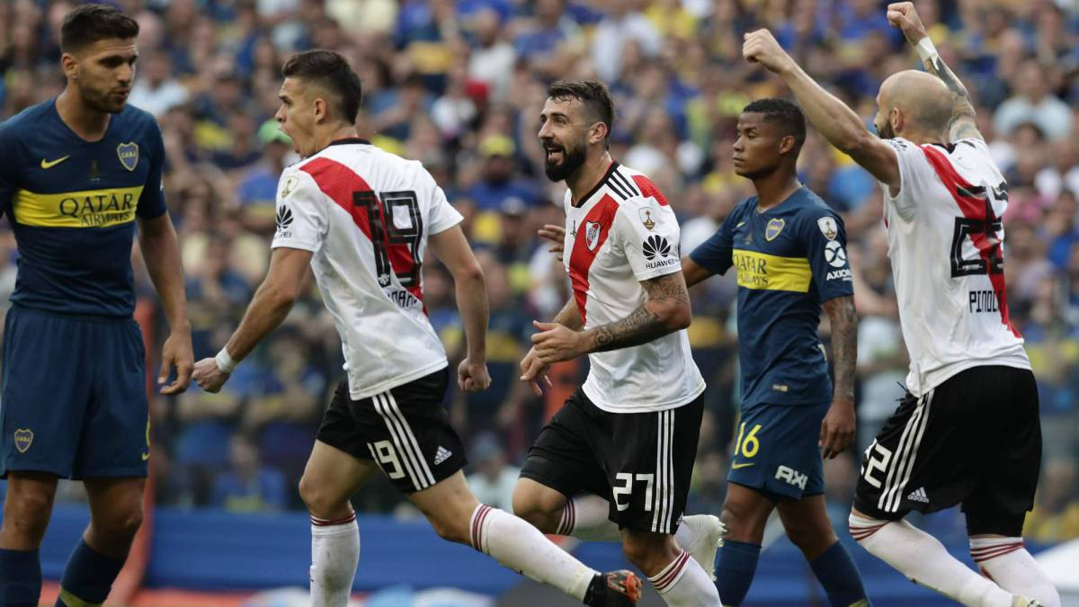 Borré, Pratto y Barrios en la final de Copa Libertadores