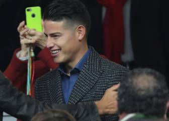 James, presente en el Bernabéu para la final River-Boca