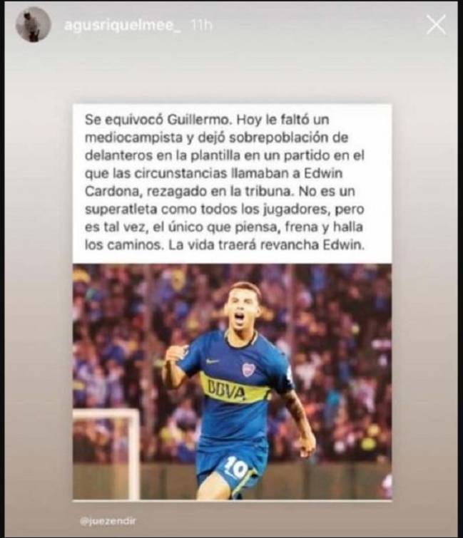 e5bf0098a6a57 El hijo de Riquelme respalda a Edwin Cardona - AS Colombia