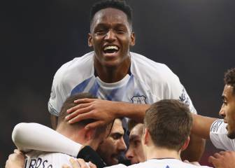 Yerry Mina anota su primer gol con Everton en Premier League