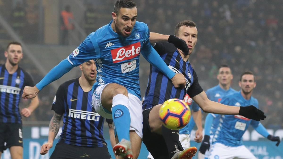 El Inter tumba al Nápoles en el descuento (1-0)