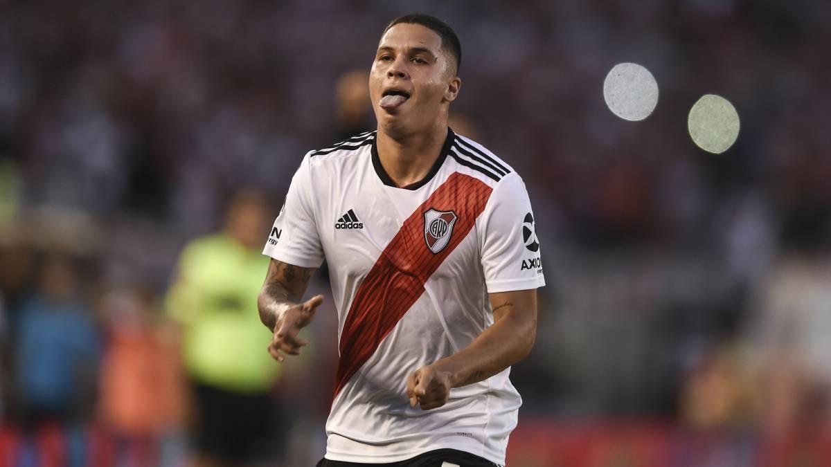 Quintero, celebrando su último gol.