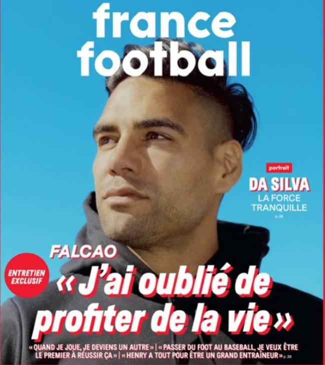 """Falcao García, portada de France Football: """"Me olvidé de disfrutar la vida"""","""
