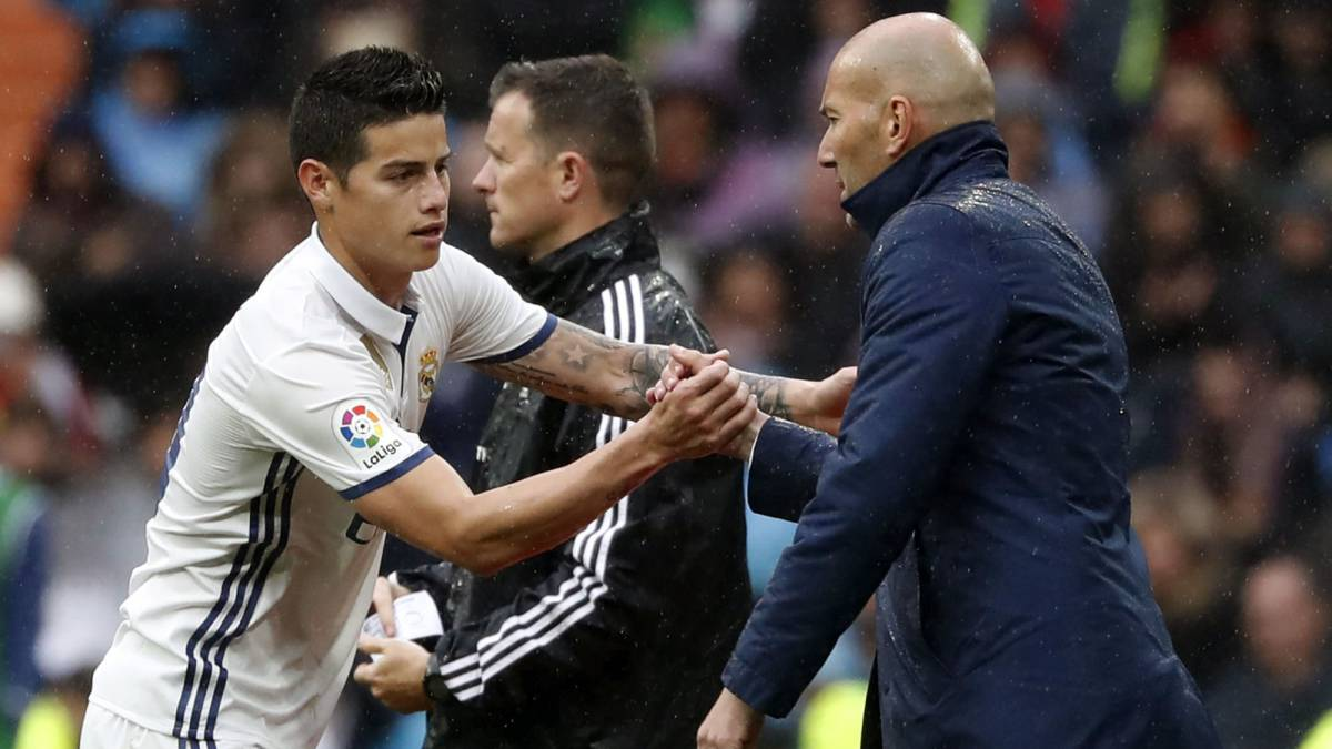 James Rodríguez and Zidane shared at Real Madrid in the 2016/2017 season