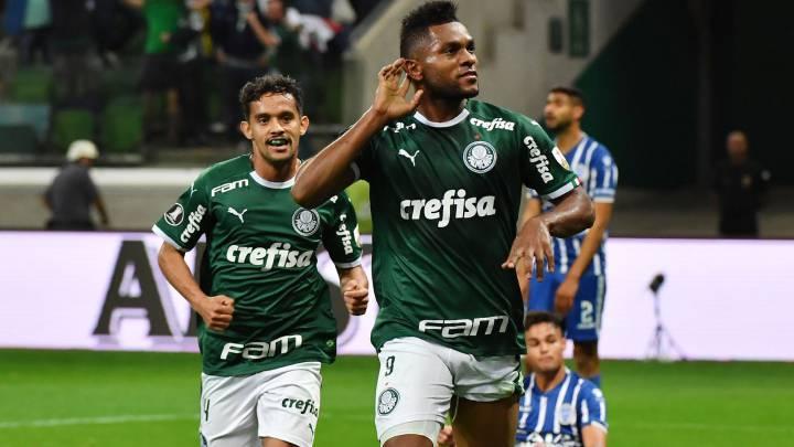 Miguel Ángel Borja, Palmeiras, gol, celebración