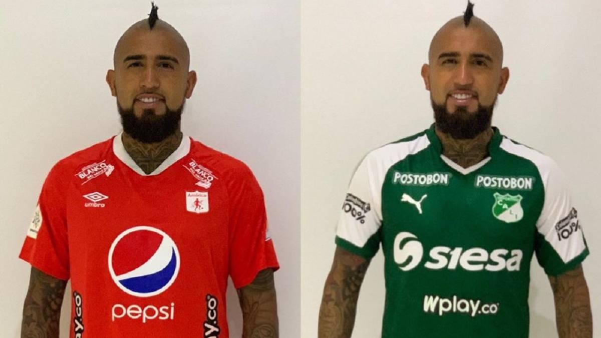 Arturo Vidal Se Pone Las Camisetas De America Y Cali As Colombia