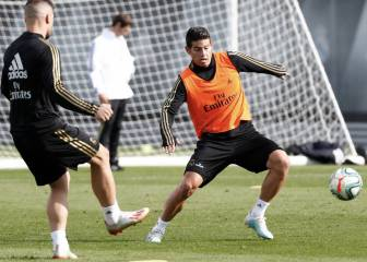 James entrena con el Madrid que recupera cinco jugadores