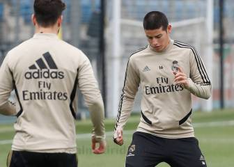 James Rodríguez entrena diferenciado en el Real Madrid