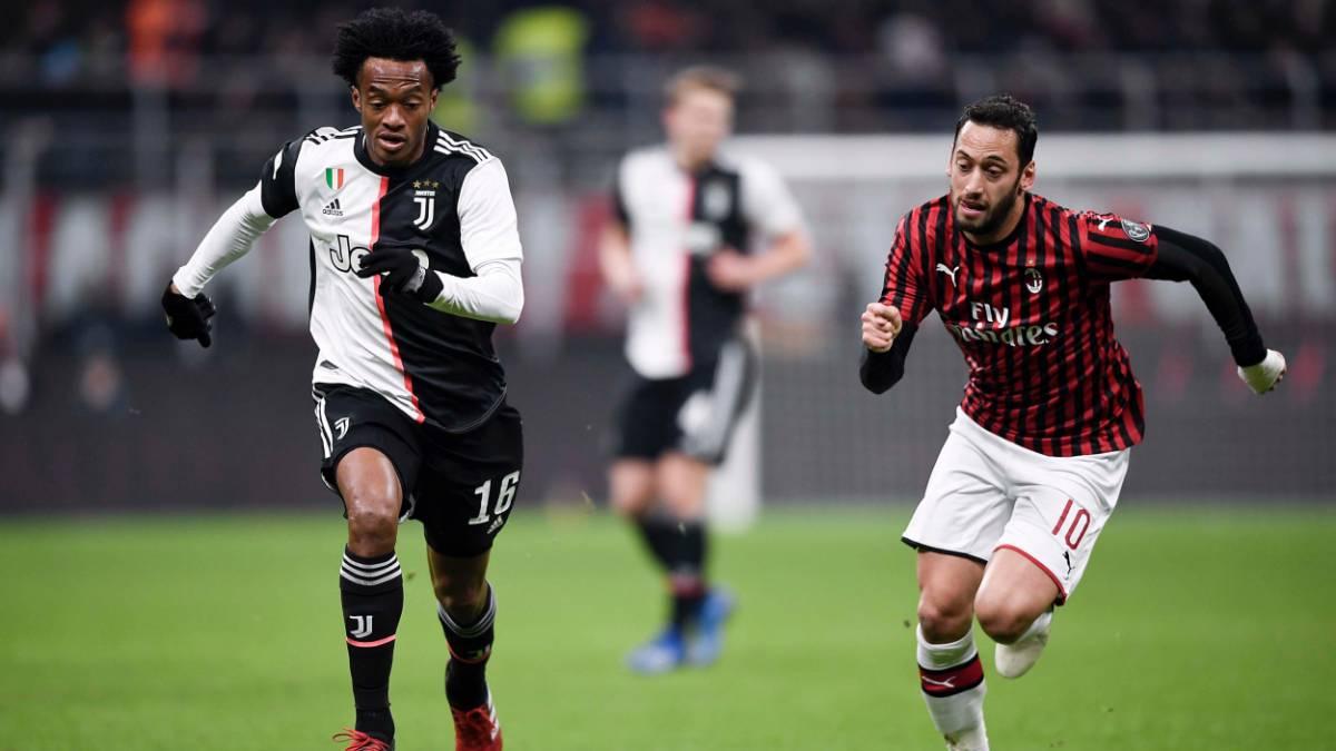 Cuadrado, una de las figuras en el empate de Juventus ante Milan - AS Colombia