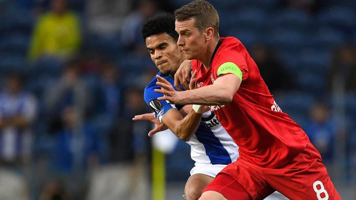 Lesión y eliminación de Luis Díaz con Porto en Europa League - AS Colombia