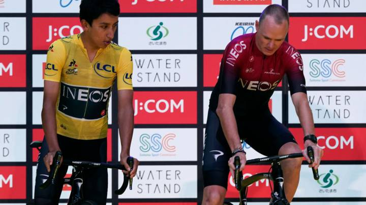 Egan Bernal y Christopher Froome