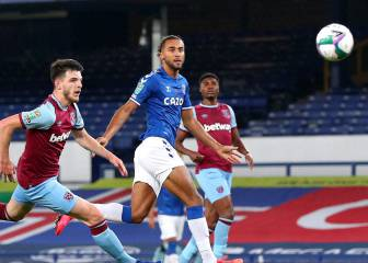 Everton golea al West Ham y sigue en la Carabao Cup