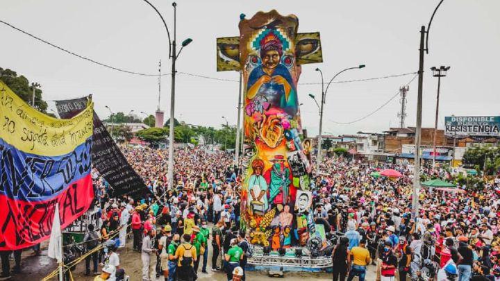 Monumento a la Resistencia de Cali: así es la obra conmemorativa del Paro  Nacional creado por los manifestantes - AS Colombia