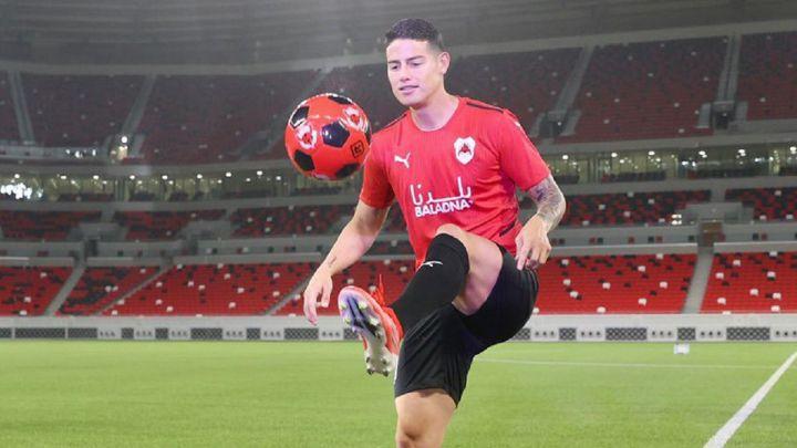 """James, presentado en Qatar: """"Lo importante es que voy a jugar"""" - AS Colombia"""