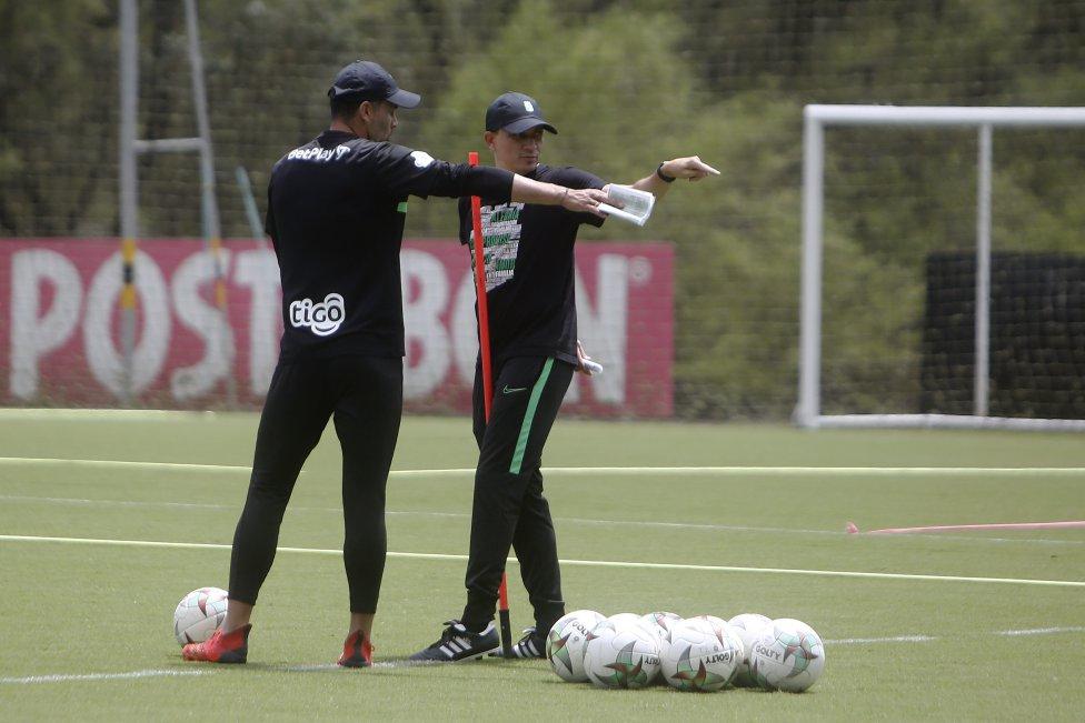 Atlético Nacional entrena y se prepara para el clásico ante Independiente Medellín en la fecha 12 de la Liga BetPlay. El partido se jugará el sábado