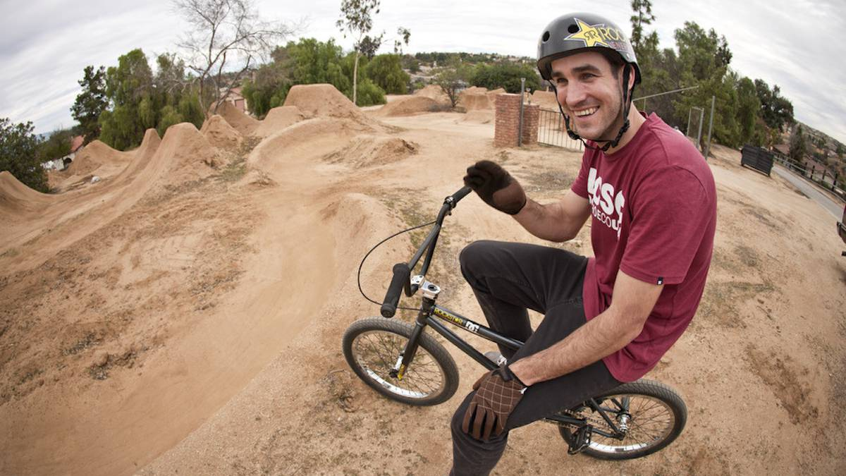 chris doyle bmx dirt jump trails