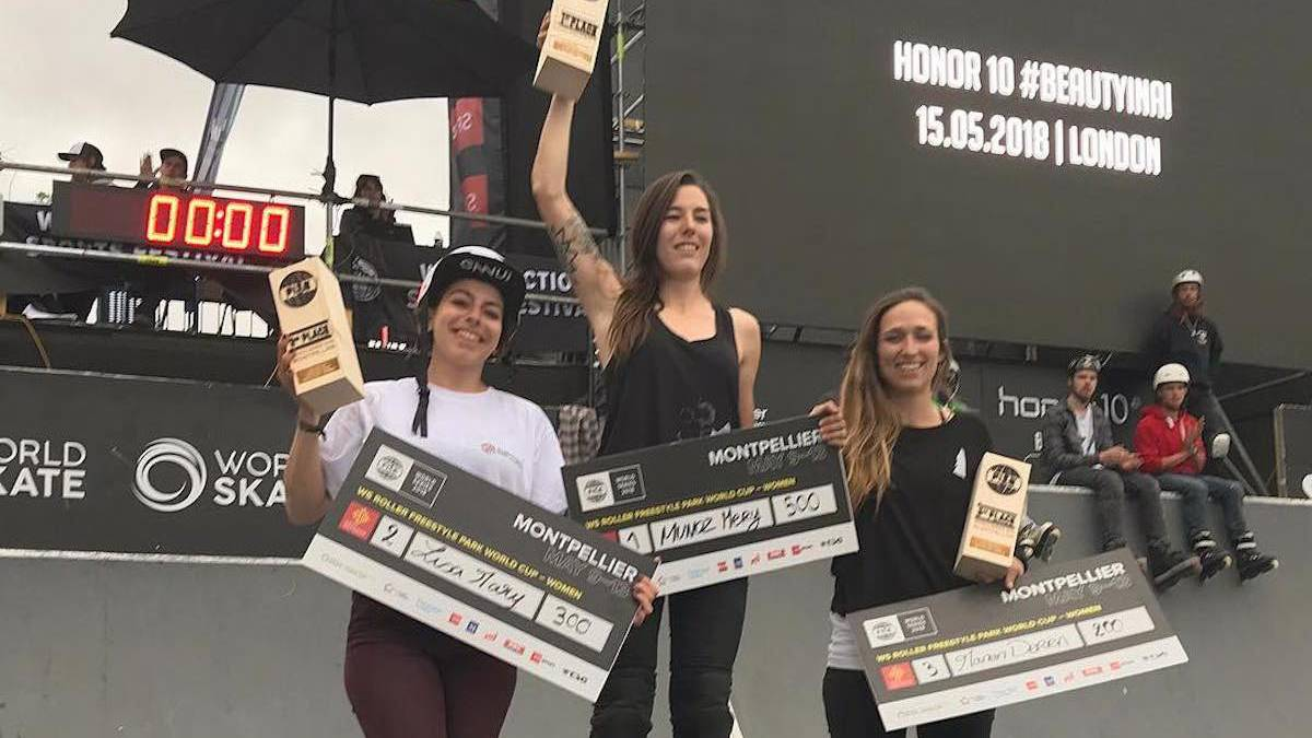 mery muñoz campeona fise 2018 montpellier francia roller park freestyle