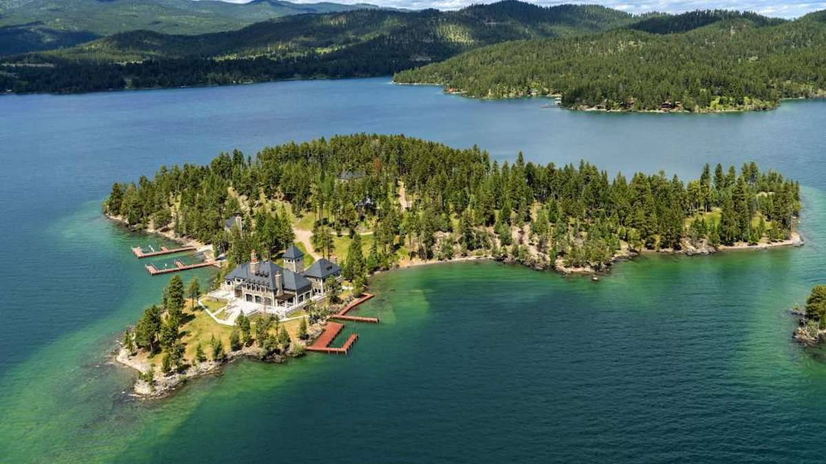 Shelter Island Estate, Flathead Lake, Montana, Estados Unidos.