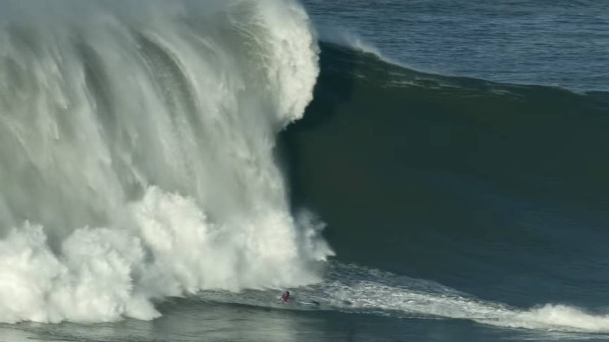 Marcelo Luna, Nazaré the big wednesday wave wipeout nazare maquina voadora