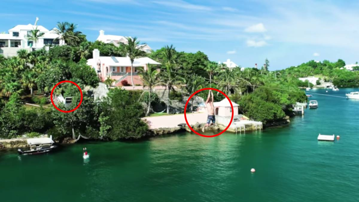 zip n slide bermuda burnt house productions tirolina macrotobogan mansion islas bermudas
