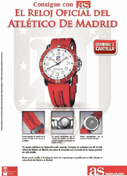 Consigue con AS tu RELOJ DEL ATLÉTICO DE MADRID
