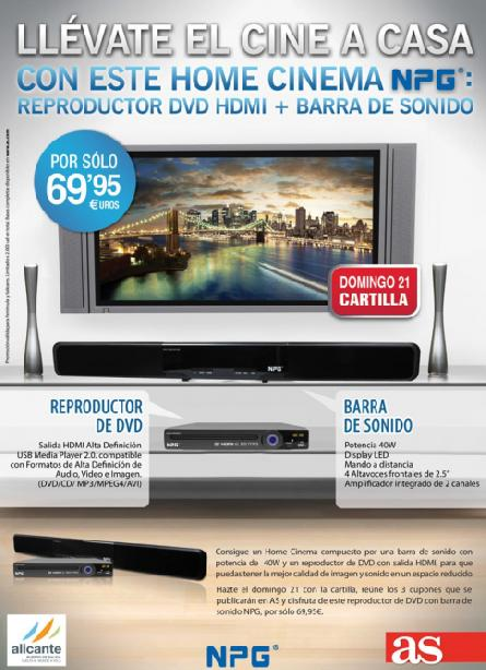 Consigue con AS tu HOME CINEMA NPG