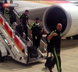 Spain touch down in Madrid after suffering lightning strike scare