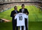45,000 Madrid fans at Bernabéu to welcome James