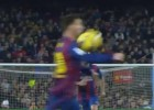 Barça's second goal started with a Messi hand-ball