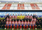 Atlético pose for their traditional annual team photo