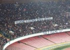 Napoli fans display banner in support of Valentino Rossi