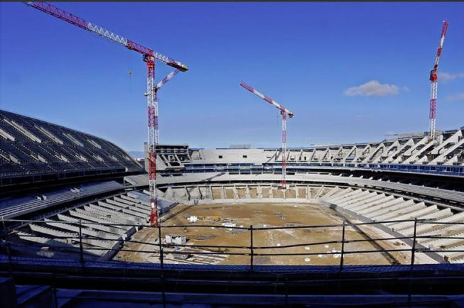 Atlético Madrid's new ground in construction