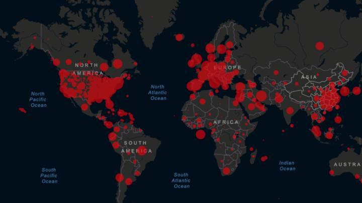 Mapa del coronavirus en el mundo, en tiempo real hoy, 1 de mayo ...