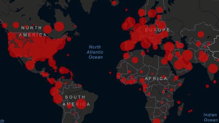 Mapa del coronavirus en el mundo, en tiempo real hoy, 8 de mayo: casos y muertos