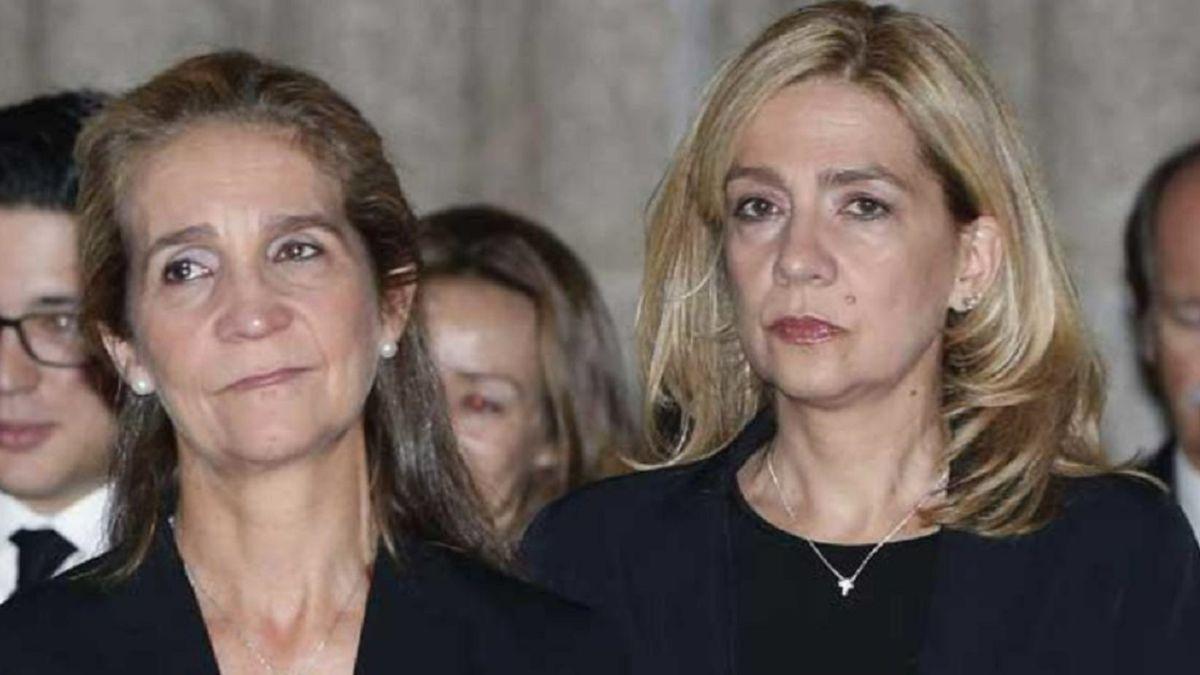 Las infantas Elena y Cristina se vacunaron en Emiratos en una visita a Juan Carlos I