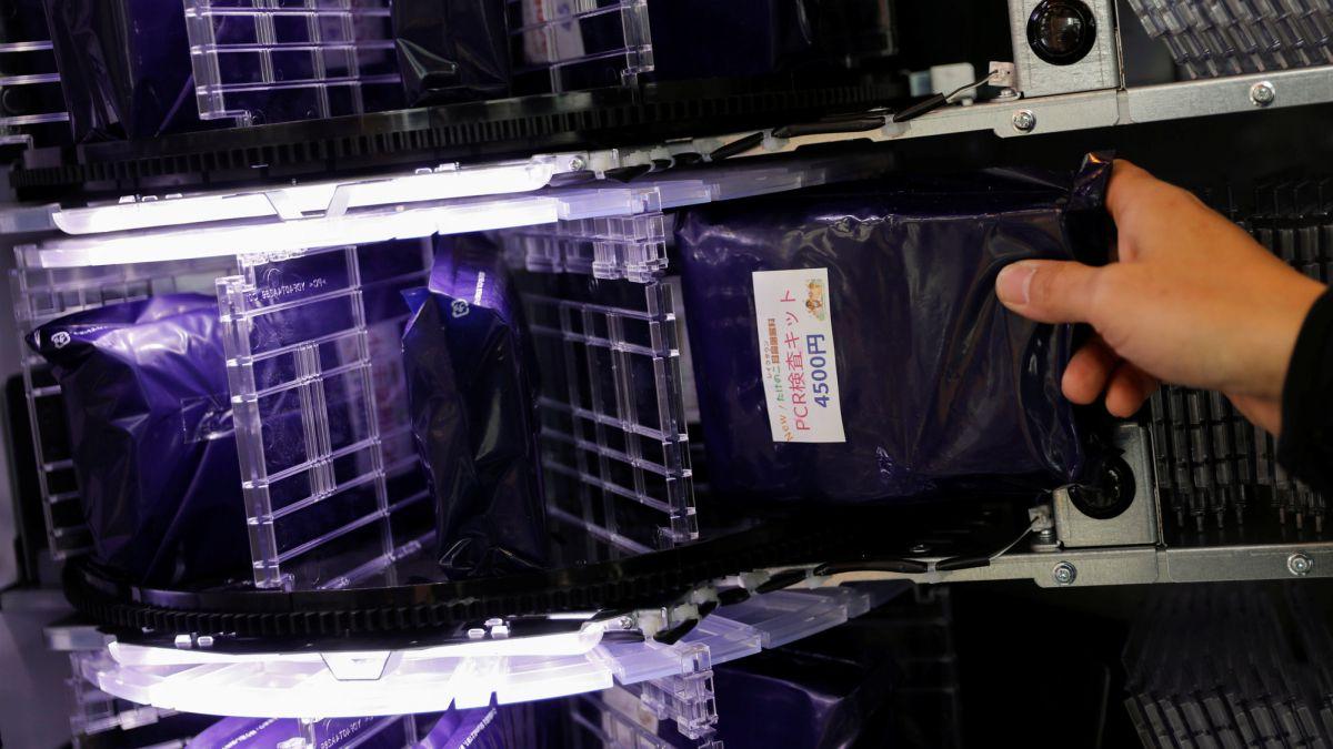 Japón vende test en máquinas expendedoras
