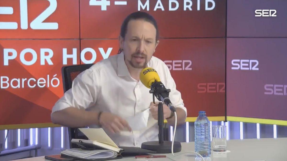 """Iglesias abandona el debate en la Ser: """"Levántese y lárguese"""""""