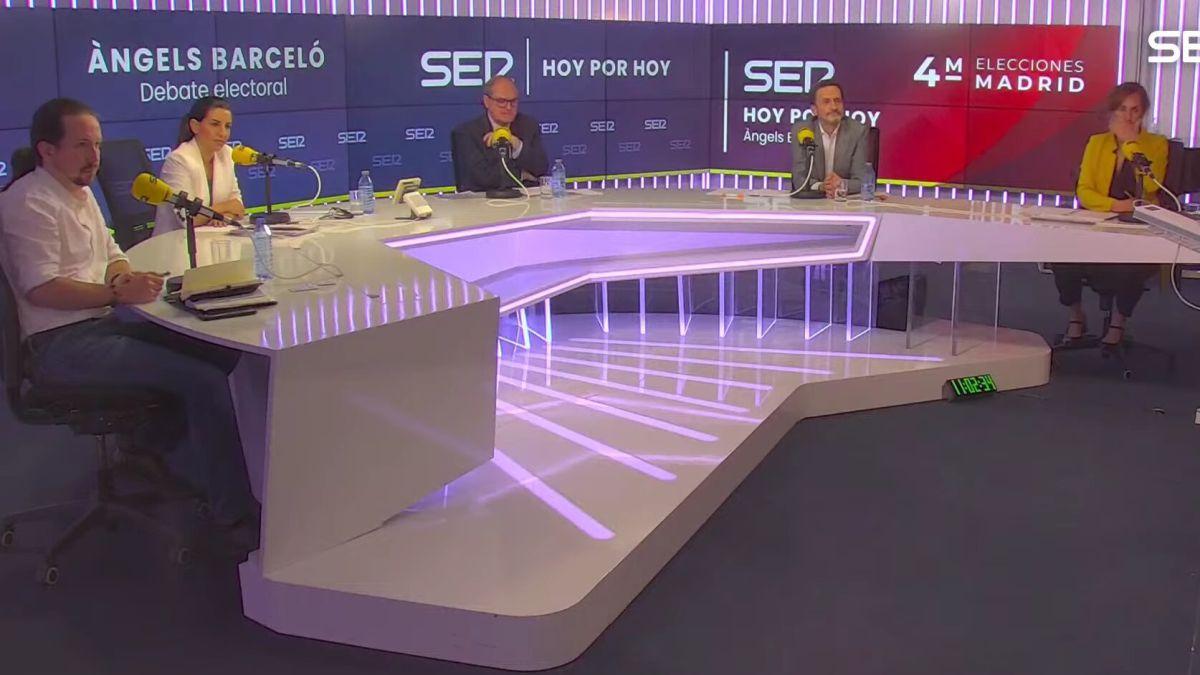 Final abrupto del debate celebrado en la SER
