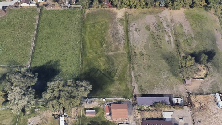Google Earth bitch insulto mensaje vecinos Utah letras grandes