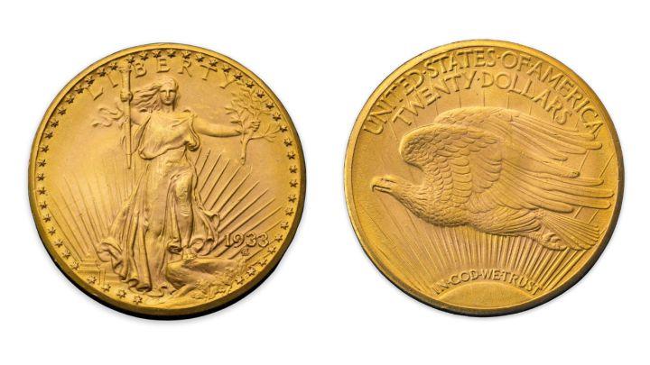 """El 'Águila Doble', la """"Mona Lisa"""" de las monedas vendida por 15,5 millones de euros en Sotheby's"""