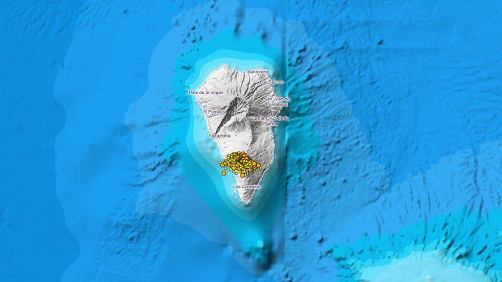 2.900 temblores y un volcán mantienen en alerta amarilla a La Palma