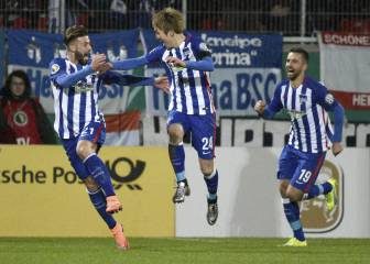 Haraguchi ends Hertha's 35-year wait to reach cup semis
