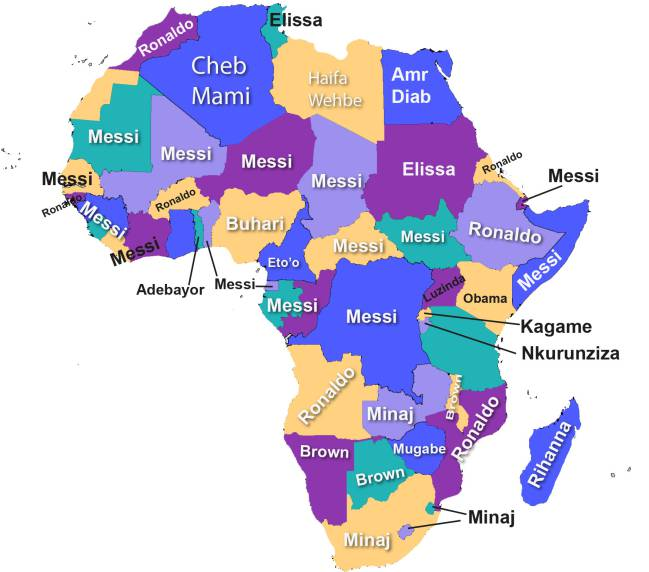 Google Africa Map.Google Messi And Ronaldo The Most Searched For In Africa As Com