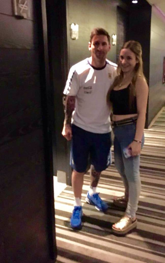 Argentina want to meet leo messi its easy with some fancy messis no1 fan chilean carla miranda went a long way to meet her idol ecuador argentina m4hsunfo Choice Image