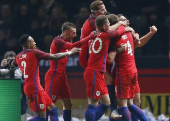 Three lions: England roar back to win in Berlin