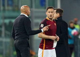 No love lost between Totti and Spalletti