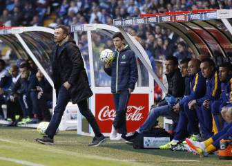 Luis Enrique turns his back on the Barça bench